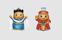 蒙古族风格卡通形象的设计