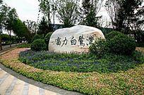 入口logo景石