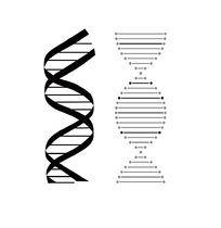 DNA双螺旋结构不同效果ai矢量图