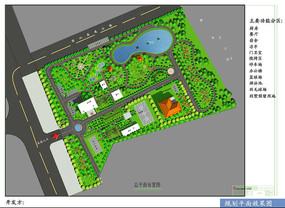 办公区公园式景观彩色平面