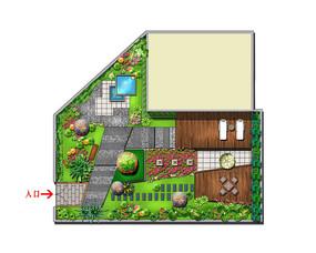 别墅花园景观彩平 PSD