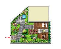 别墅花园景观彩平