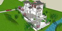 多层建筑山体住宅山体庭院景观