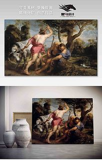 世界油画 水星和阿格斯