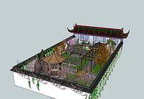 围墙庭院景观