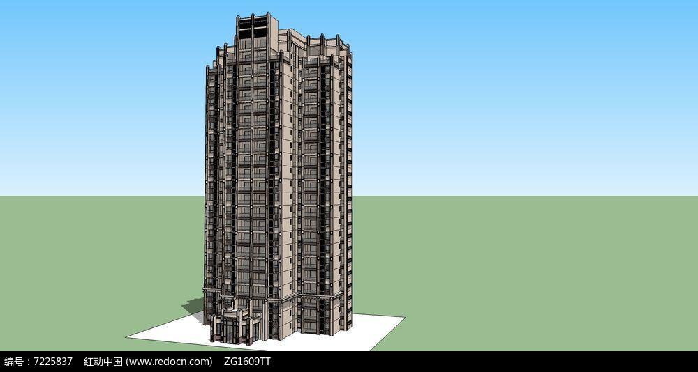 新区高层建筑单体图片