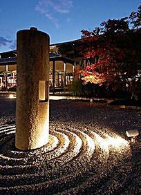 夜晚景观射灯 JPG