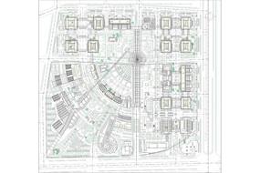 XX商业区地块总平面规划图 CAD