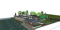 滨河休闲广场景观