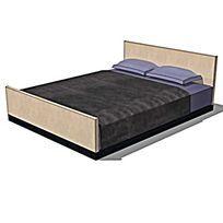深色木制双人床