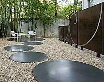 现代钢材卵石铺装 JPG