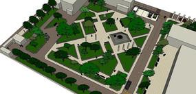 校园规划一角SU模型