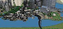 沿岸广场住宅建筑模型