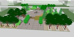 住宅小区中心绿地广场景观