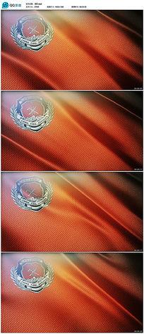高清消防旗帜视频素材