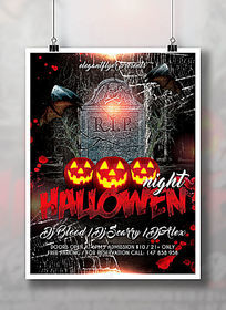 国外万圣节南瓜节活动派对海报设计