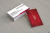 红色商务名片创意设计