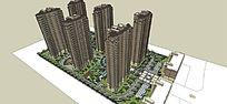 居住区完整模型