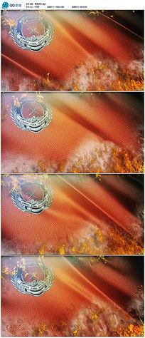 燃烧的高清消防旗帜视频素材