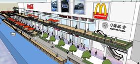 改造项目——汽车超市设计记录方案一及滨水商业模型