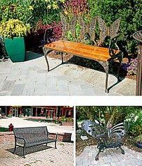 蝴蝶花纹铁艺座椅