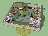 日式小花园的SU模型设计