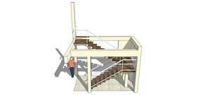 室内现代楼梯SU模型