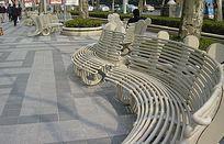 铁艺弧线座椅 JPG