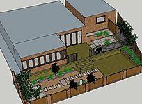 屋顶花园别墅景观