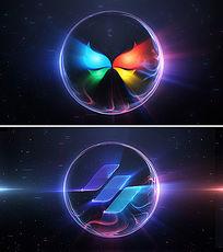 AE震撼粒子光线爆炸LOGO演绎片头模板