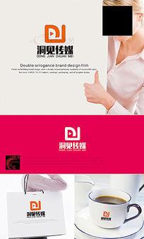 DJ字母传媒公司LOGO