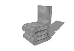 S型折叠石椅