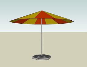 彩色固定遮阳伞