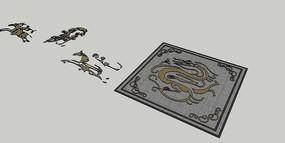地面浮雕 skp
