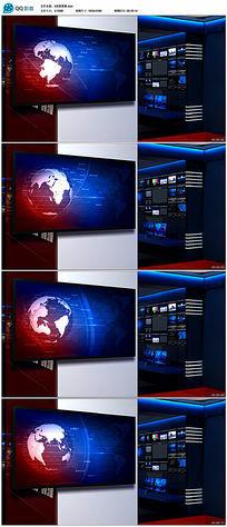 地球新闻虚拟演播室背景