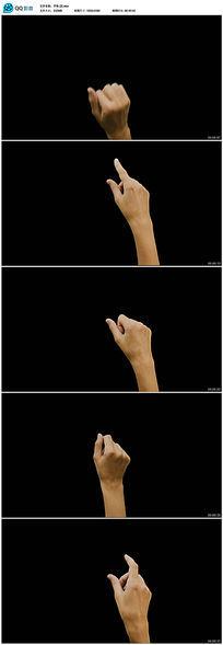 各种带透明通道手势视频视频素材