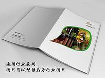 进口红酒画册封面indd源文件下载