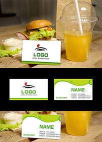 绿色清新简洁名片