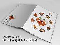 美味佳肴餐饮画册封面indd源文件下载
