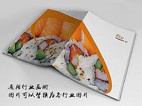 寿司美食画册封面indd源文件下载