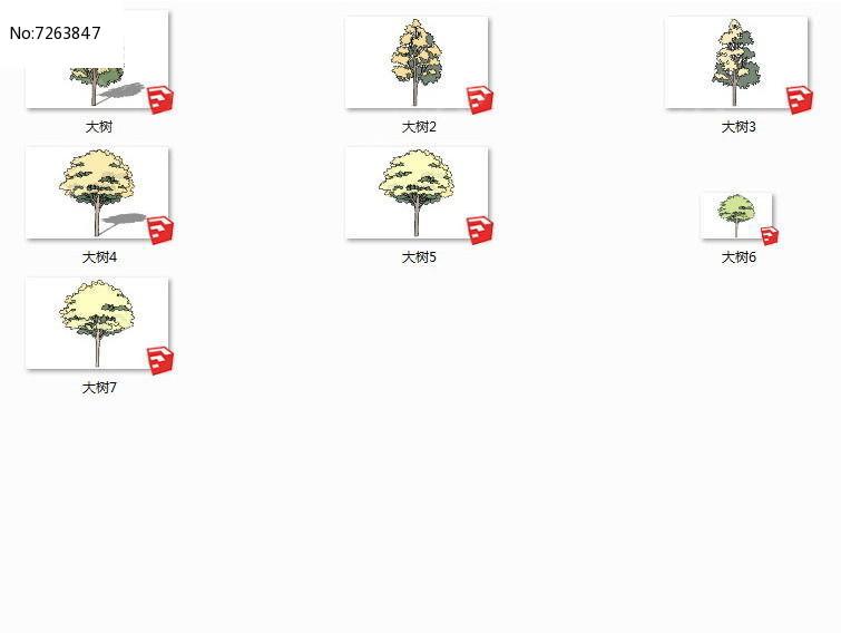 写意大树su模型图片