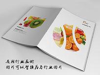 新鲜水果画册封面indd源文件下载