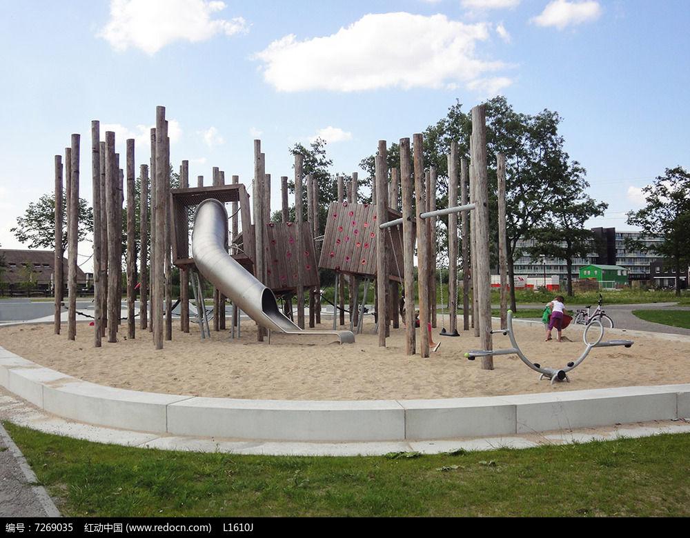 公园中的儿童游乐场JPG素材下载 编号7269035 红动网