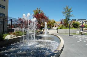 广场水池喷泉
