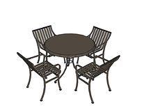 室外铁艺圆桌休闲座椅套桌
