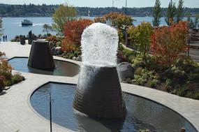 叶子形状水池雕塑小品