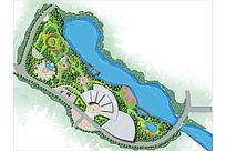 主题公园景观设计彩色平面PSD PSD
