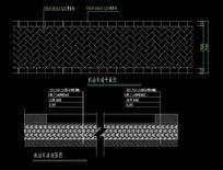 车行道平剖面图 CAD