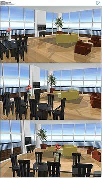 三维客厅室内设计建筑动画视频