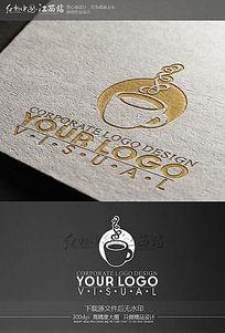 创意咖啡馆标志logo设计